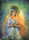 "Friendship Card ""Lady Galadriel"" Friendship Greetings Card by Josephine Wall (FRG45671)"